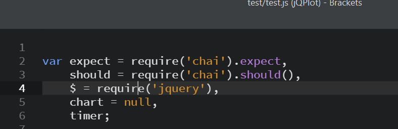 Screenshot: test require(jquery)